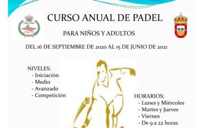 Inscripciones curso de Padel 2020-2021